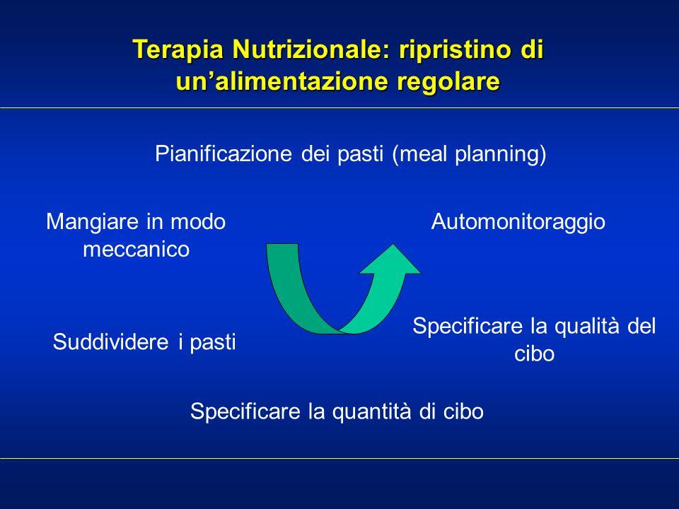 Terapia Nutrizionale: ripristino di un'alimentazione regolare