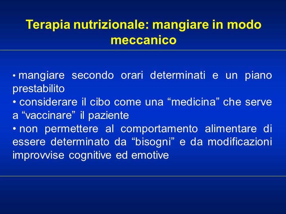 Terapia nutrizionale: mangiare in modo meccanico