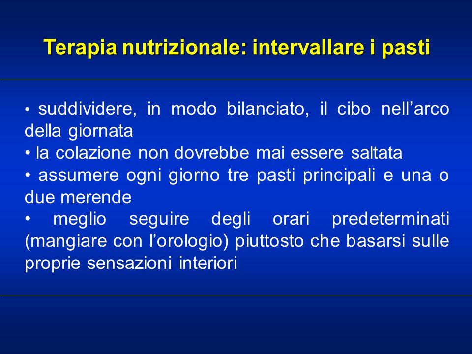 Terapia nutrizionale: intervallare i pasti