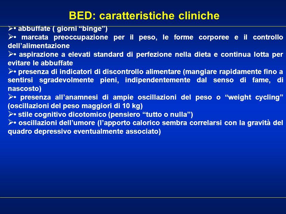 BED: caratteristiche cliniche