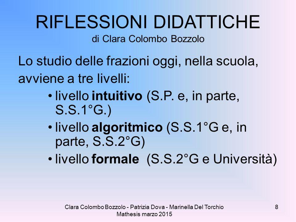RIFLESSIONI DIDATTICHE di Clara Colombo Bozzolo