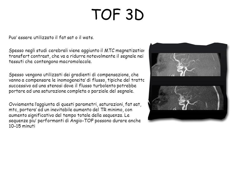 TOF 3D Puo' essere utilizzato il fat sat o il wats.