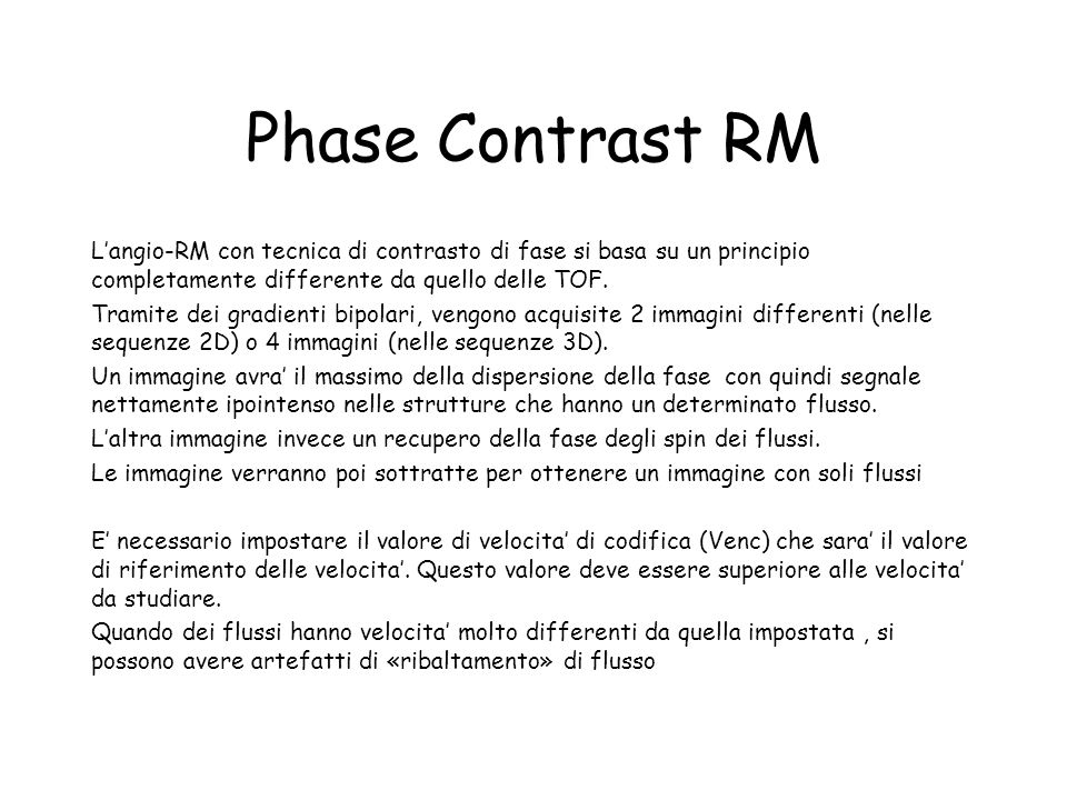 Phase Contrast RM