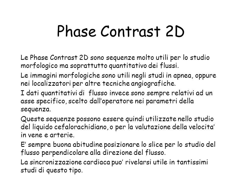 Phase Contrast 2D