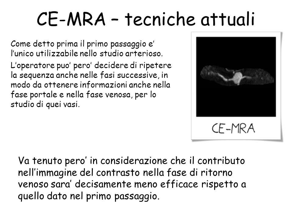 CE-MRA – tecniche attuali