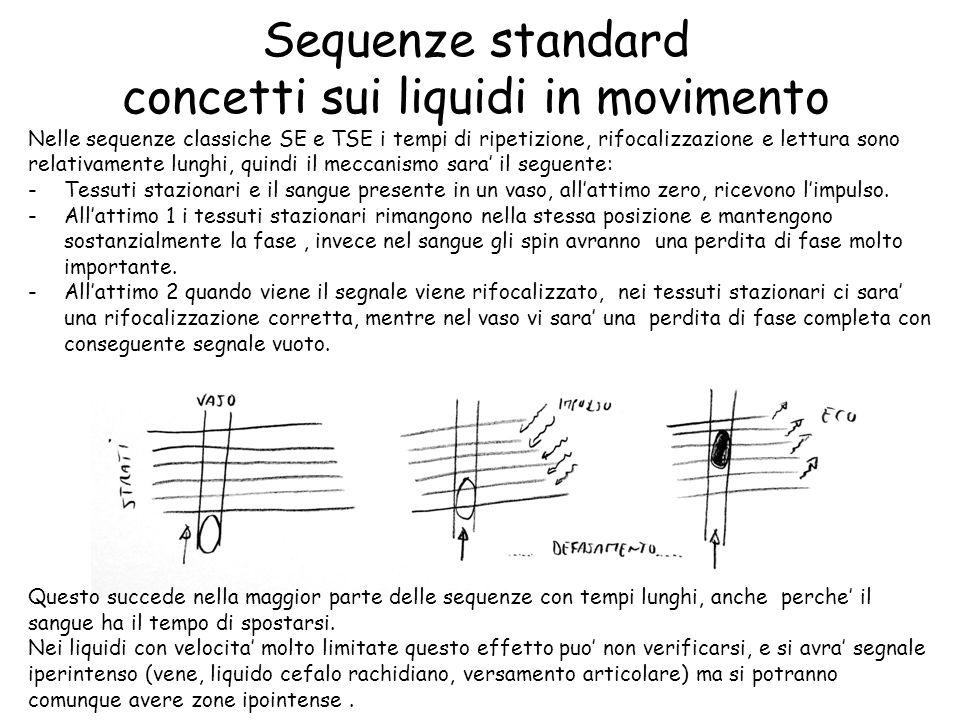 Sequenze standard concetti sui liquidi in movimento