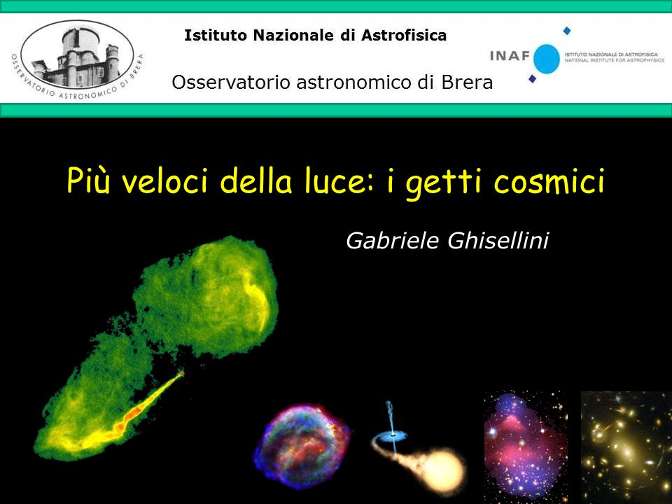 Più veloci della luce: i getti cosmici