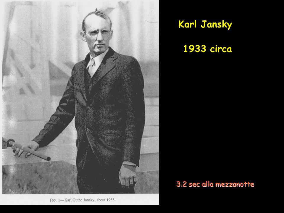 Karl Jansky 1933 circa 3.2 sec alla mezzanotte