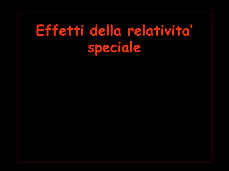 Effetti della relativita' speciale