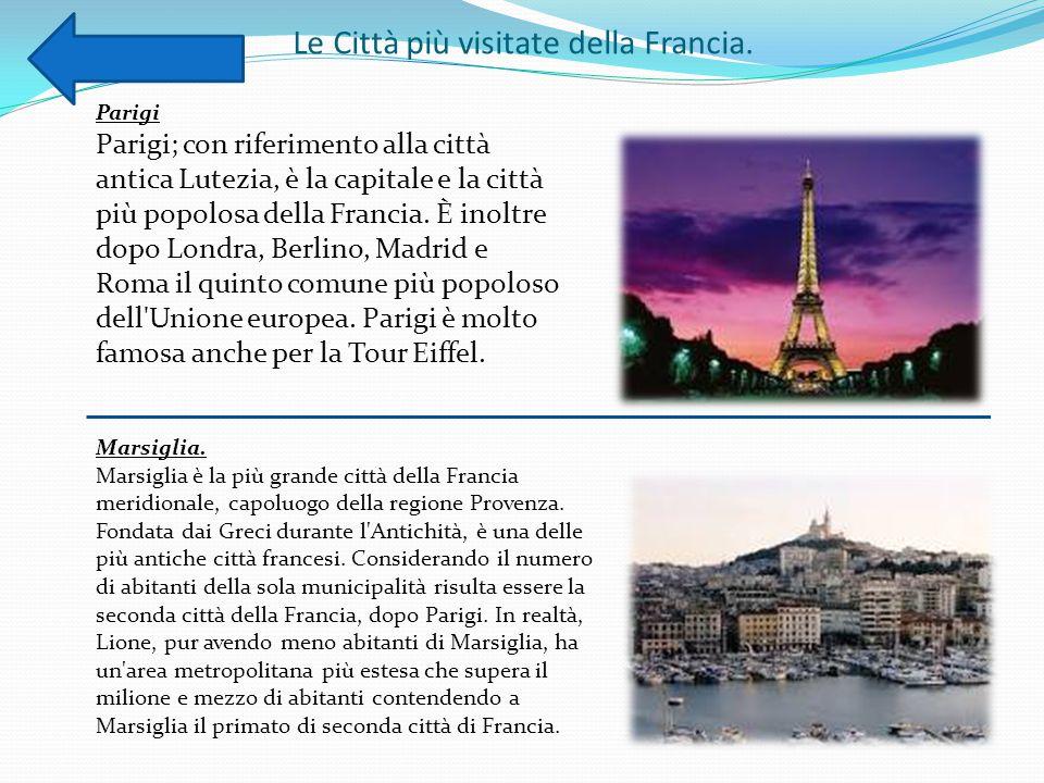 Le Città più visitate della Francia.