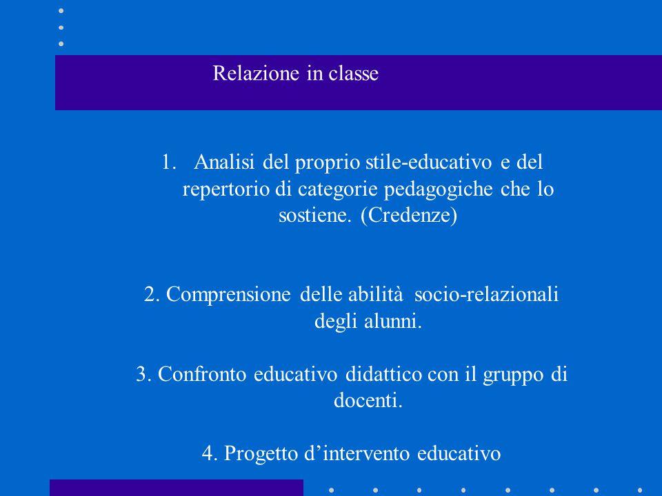 2. Comprensione delle abilità socio-relazionali degli alunni.