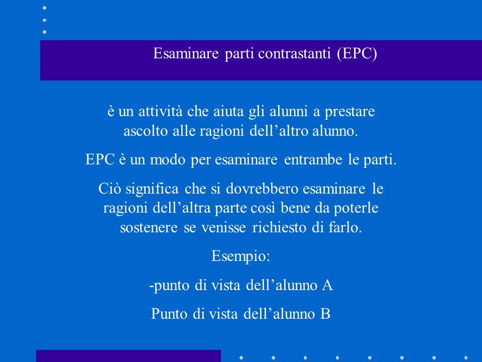 Esaminare parti contrastanti (EPC)