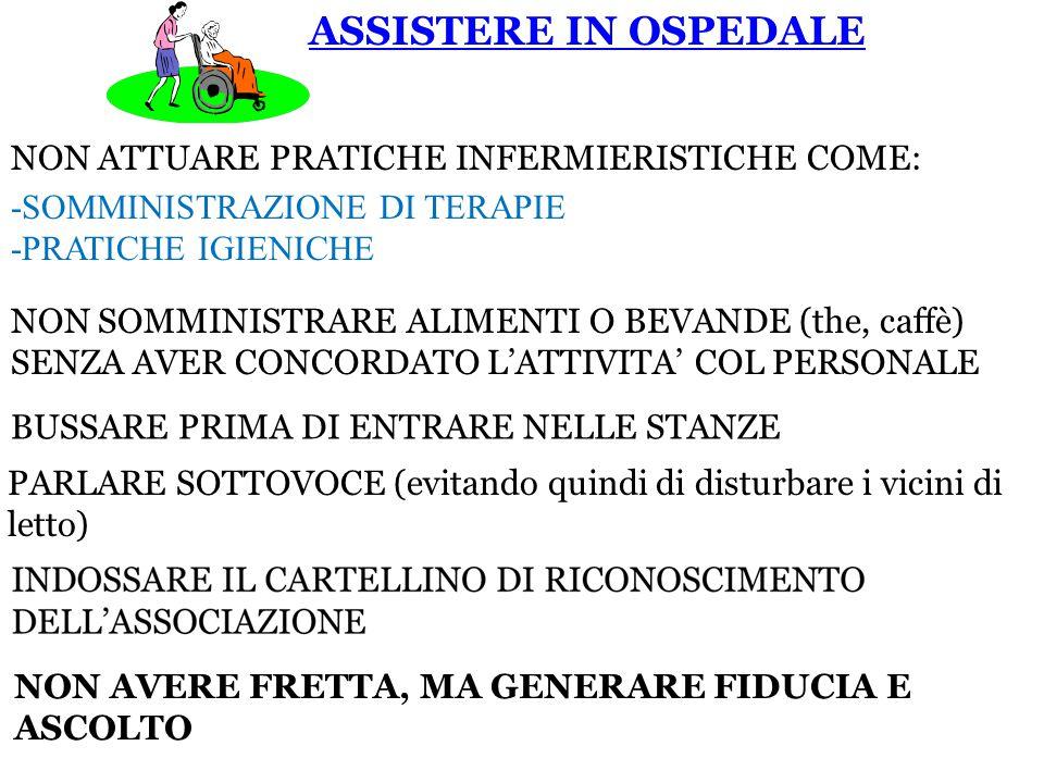 ASSISTERE IN OSPEDALE NON ATTUARE PRATICHE INFERMIERISTICHE COME: