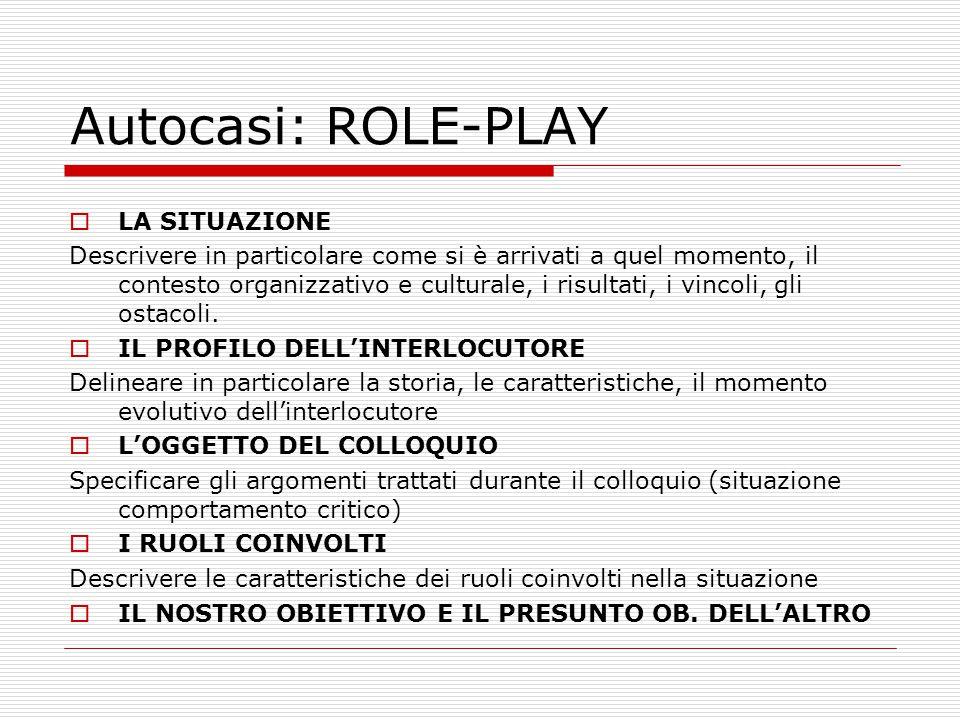 Autocasi: ROLE-PLAY LA SITUAZIONE