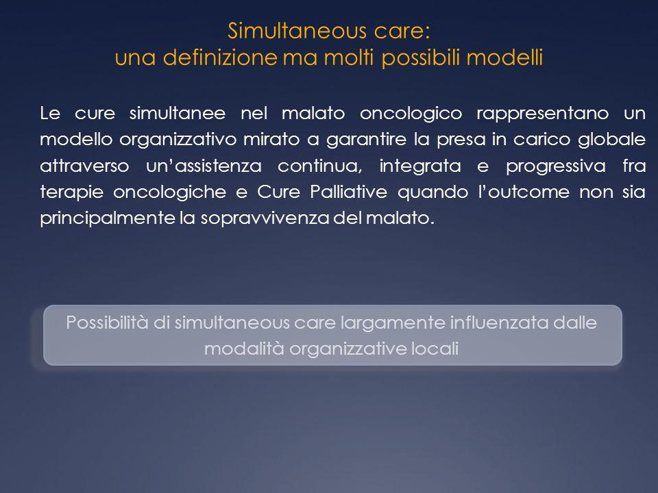 Simultaneous care: una definizione ma molti possibili modelli