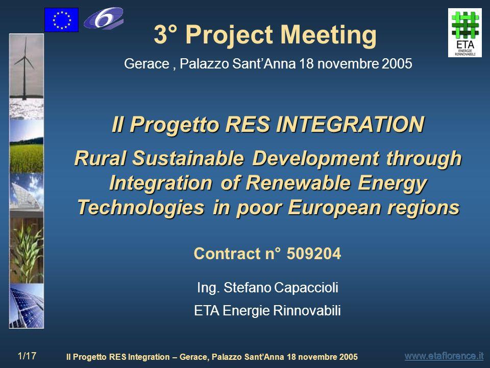 Il Progetto RES INTEGRATION