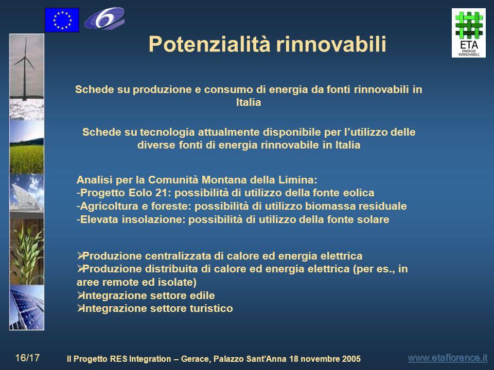 Potenzialità rinnovabili