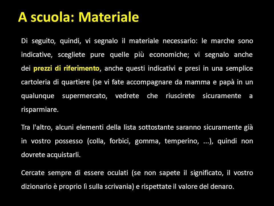 A scuola: Materiale