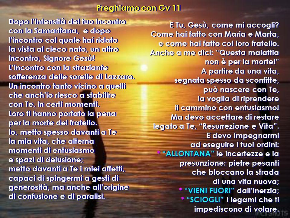 Preghiamo con Gv 11