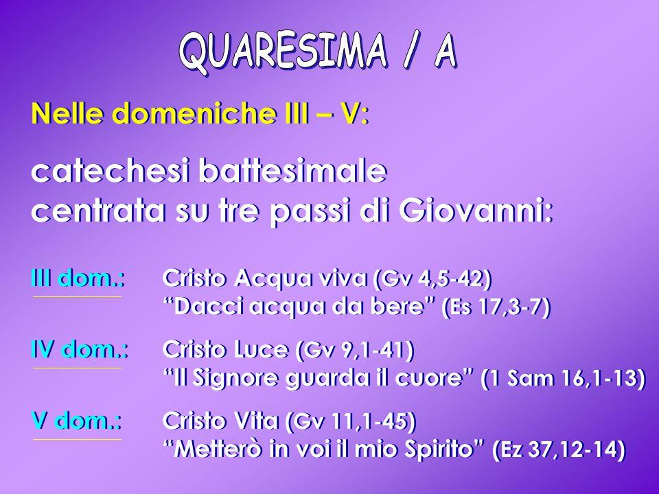 catechesi battesimale centrata su tre passi di Giovanni: