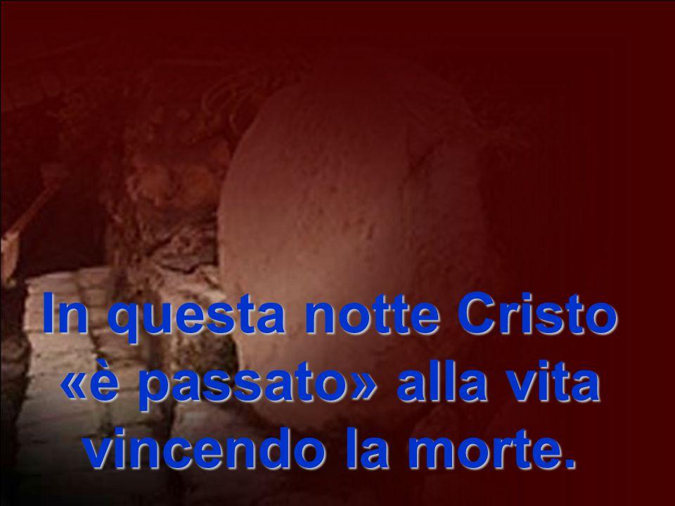 In questa notte Cristo «è passato» alla vita vincendo la morte.