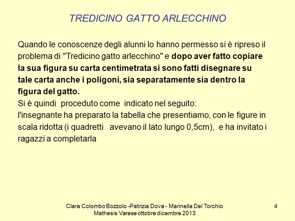 TREDICINO GATTO ARLECCHINO