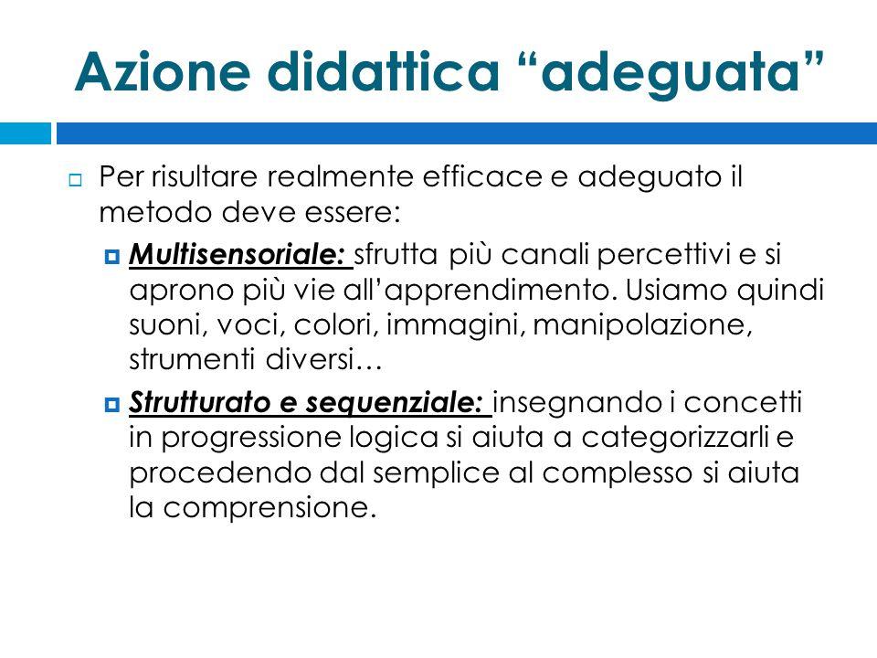 Azione didattica adeguata