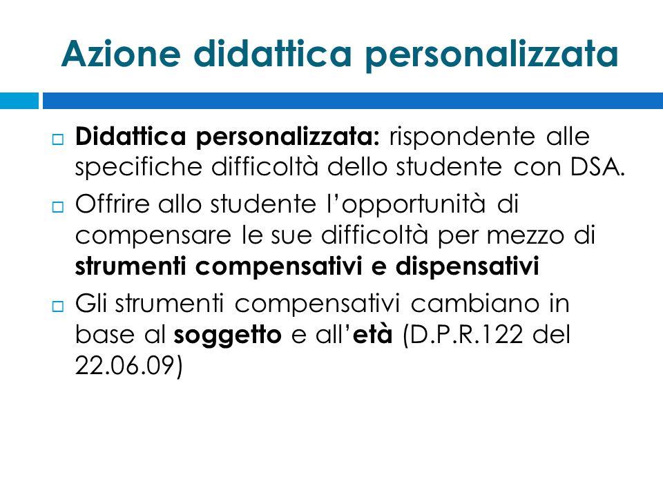 Azione didattica personalizzata