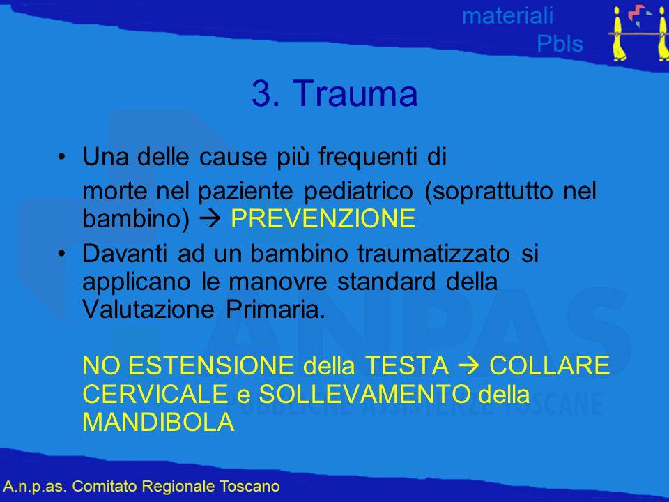 3. Trauma Una delle cause più frequenti di