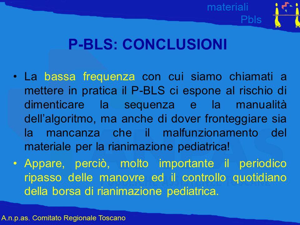 P-BLS: CONCLUSIONI