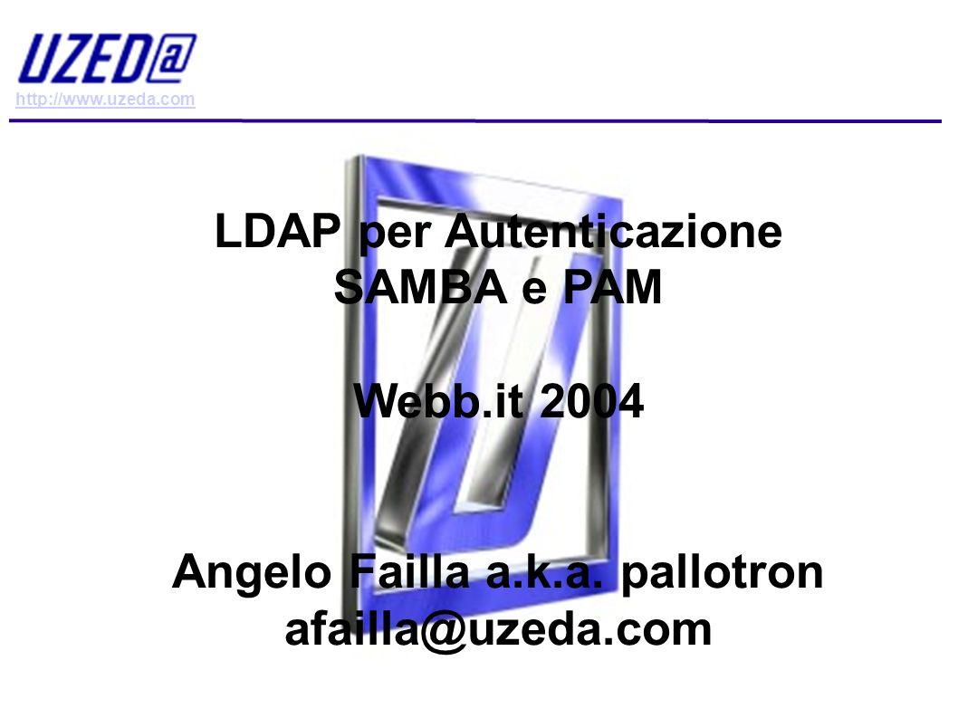 LDAP per Autenticazione Angelo Failla a.k.a. pallotron