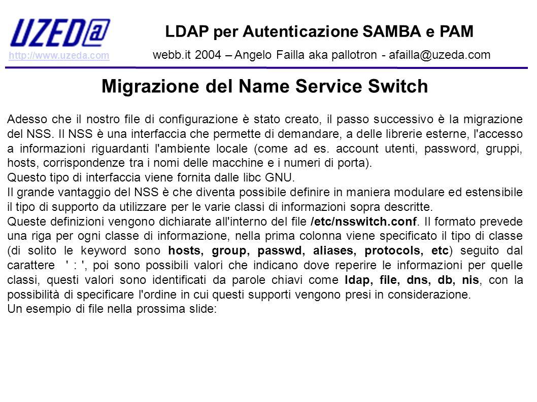 Migrazione del Name Service Switch
