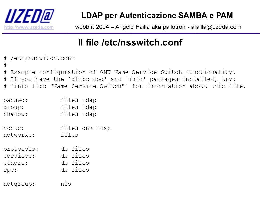 Il file /etc/nsswitch.conf