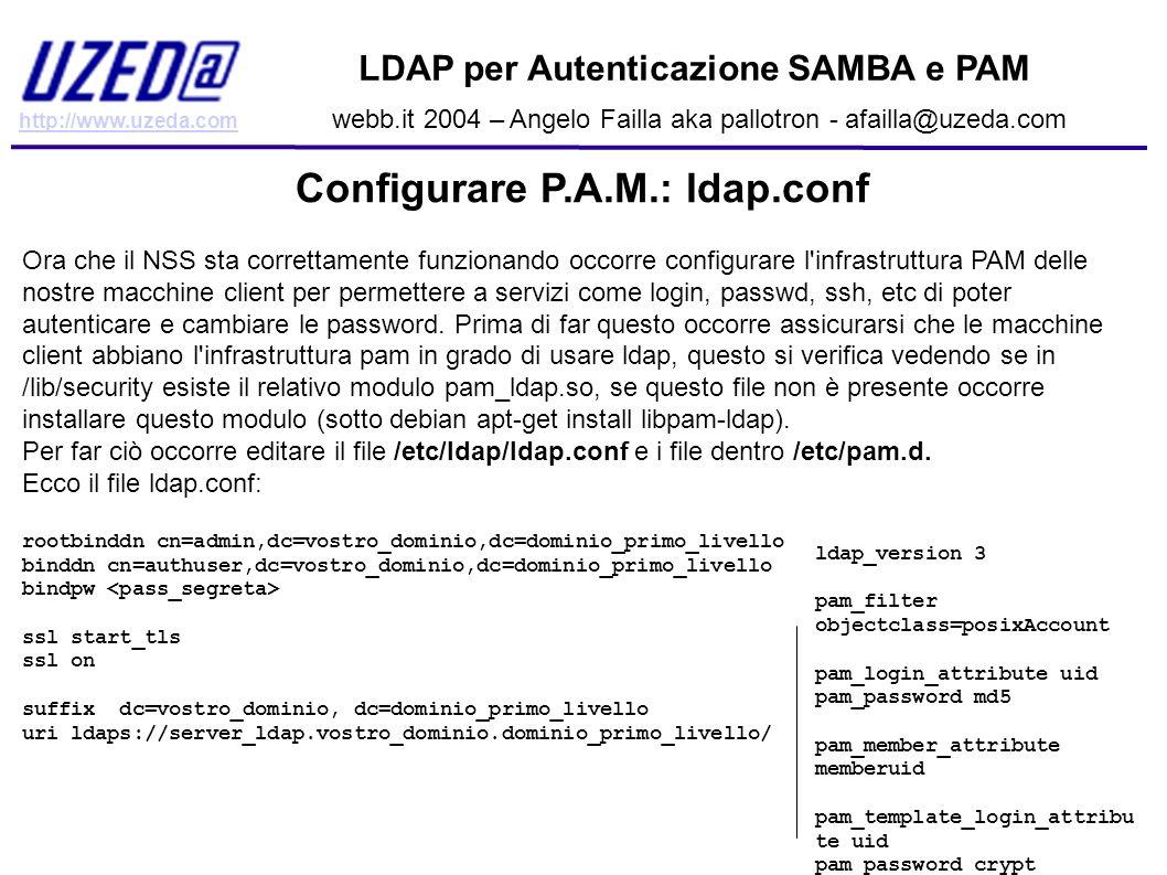 Configurare P.A.M.: ldap.conf
