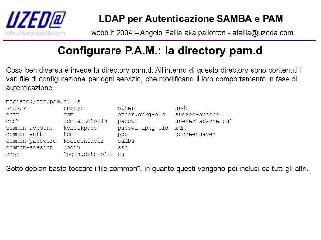 Configurare P.A.M.: la directory pam.d