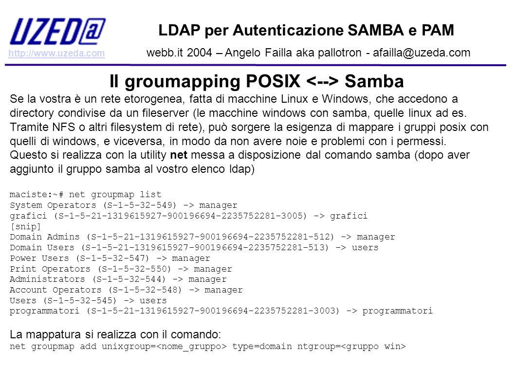 Il groumapping POSIX <--> Samba