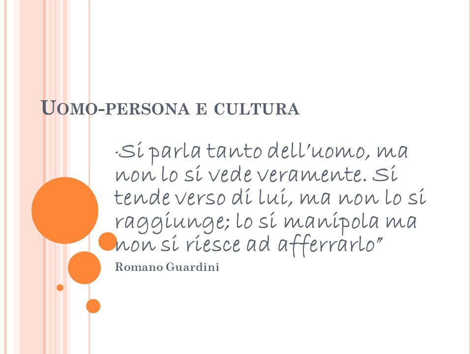 Uomo-persona e cultura