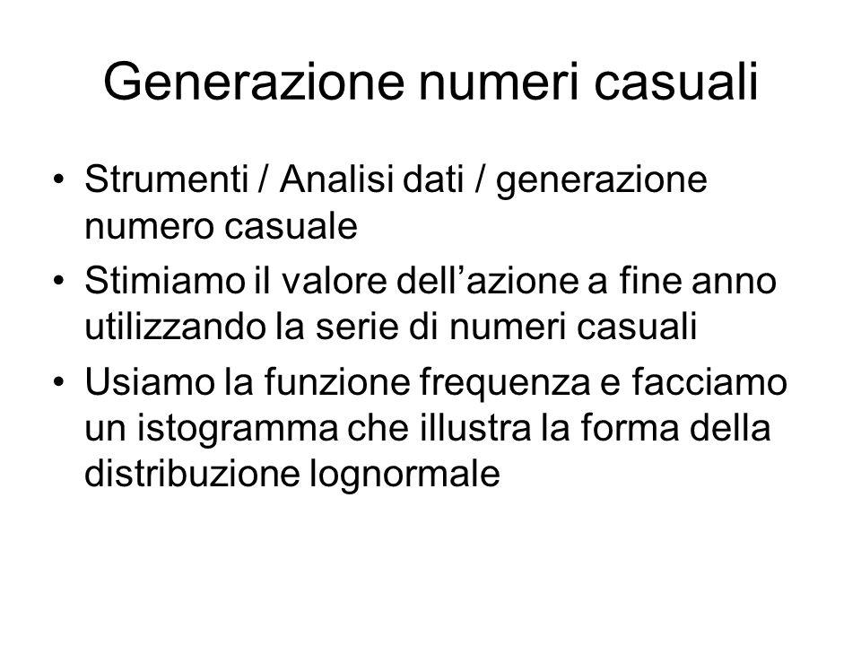 Generazione numeri casuali