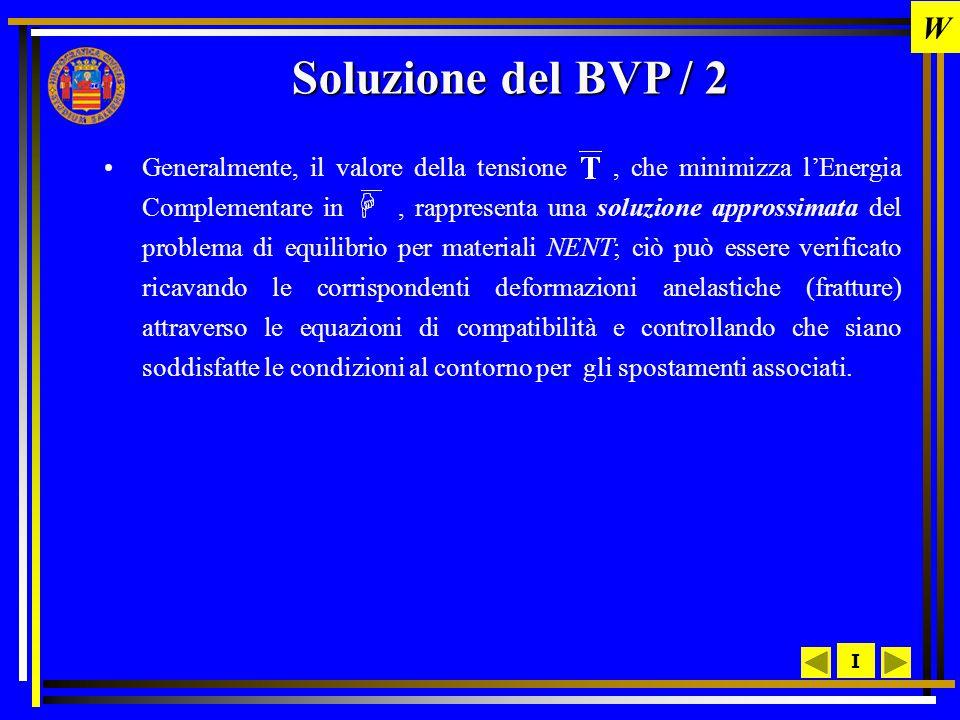 W Soluzione del BVP / 2.