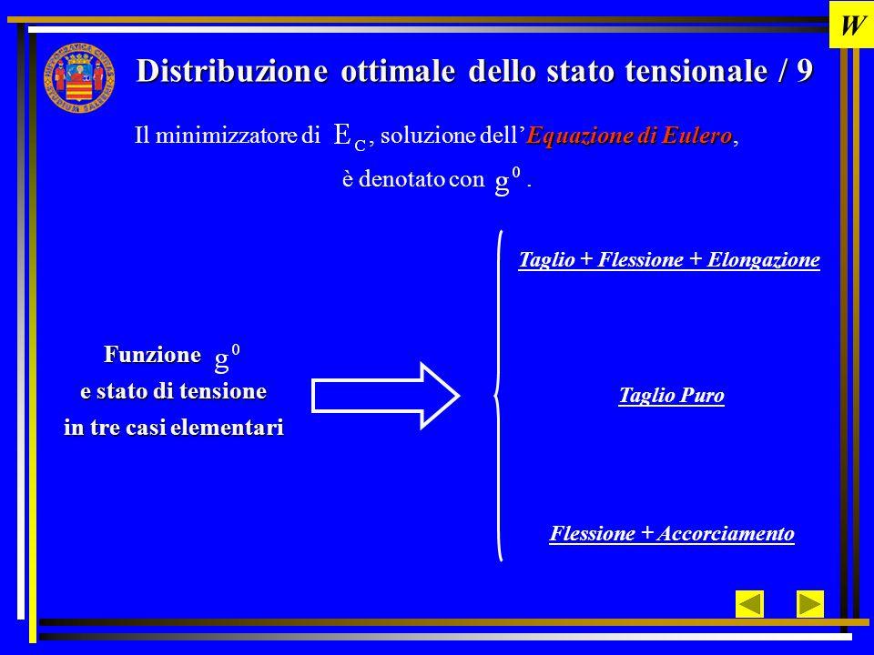 Distribuzione ottimale dello stato tensionale / 9