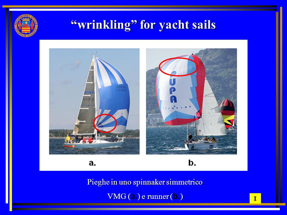 wrinkling for yacht sails