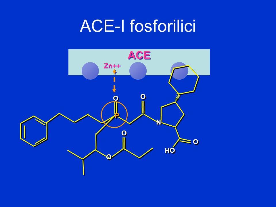 ACE-I fosforilici ACE Zn++ O P N HO