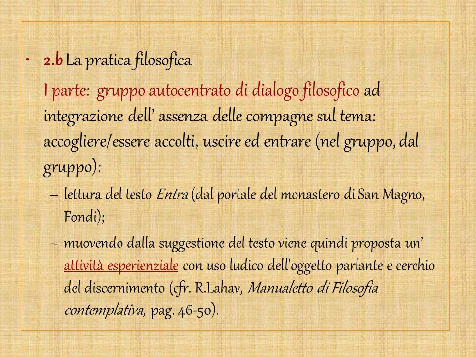 2.b La pratica filosofica