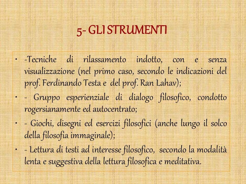 5- GLI STRUMENTI