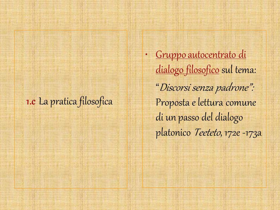 1.c La pratica filosofica