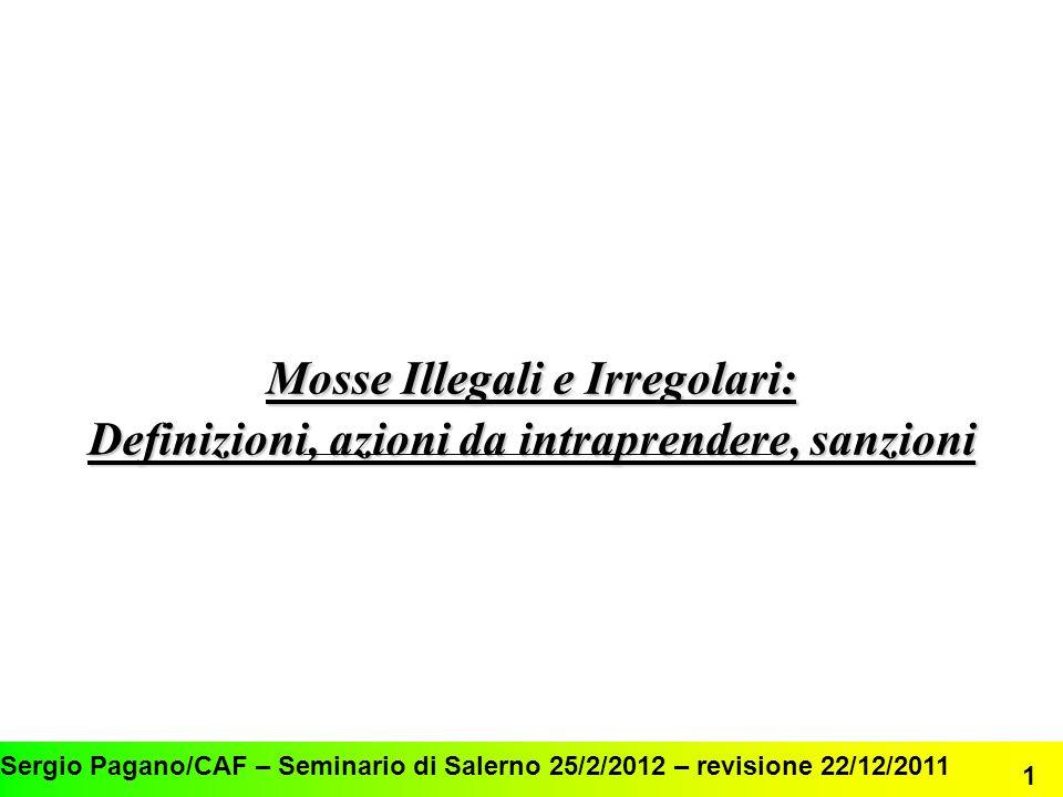 Mosse Illegali e Irregolari: Definizioni, azioni da intraprendere, sanzioni