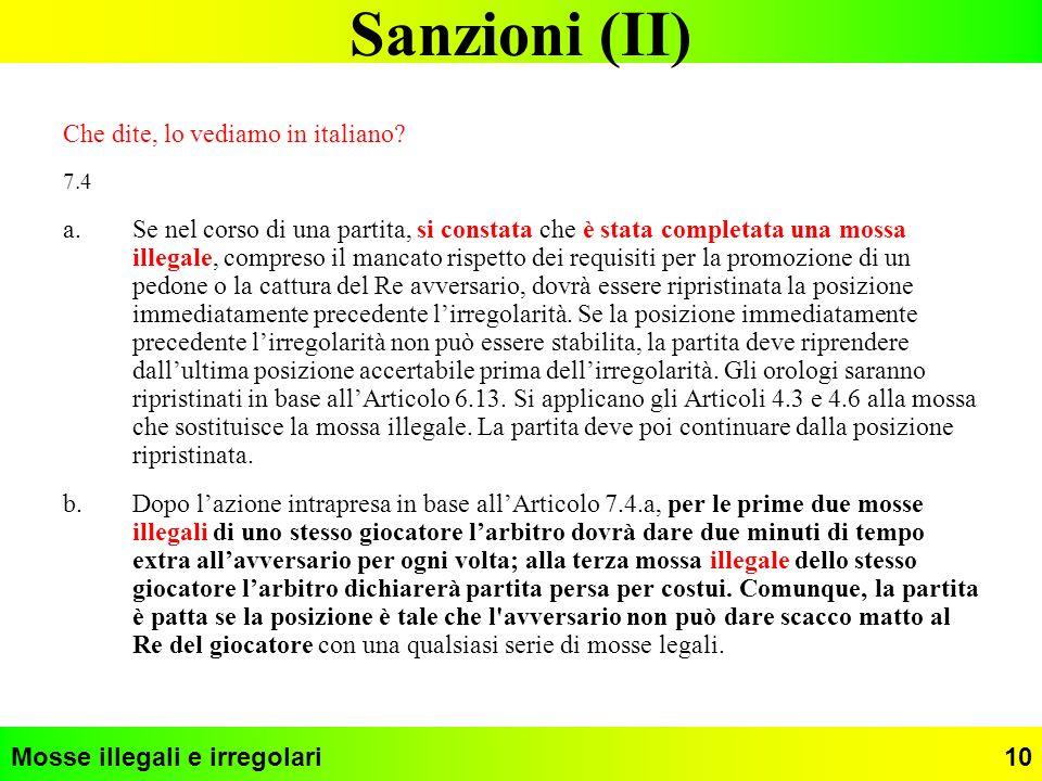Sanzioni (II) Che dite, lo vediamo in italiano