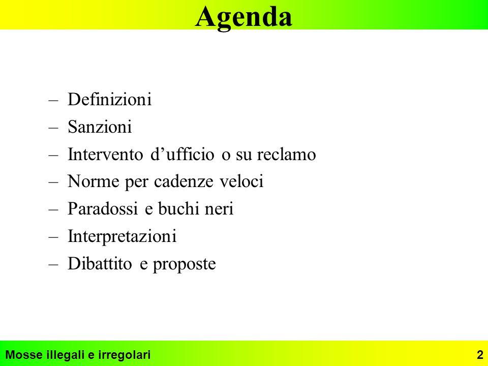 Agenda Definizioni Sanzioni Intervento d'ufficio o su reclamo