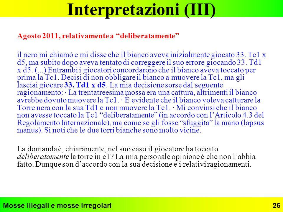 Interpretazioni (III)