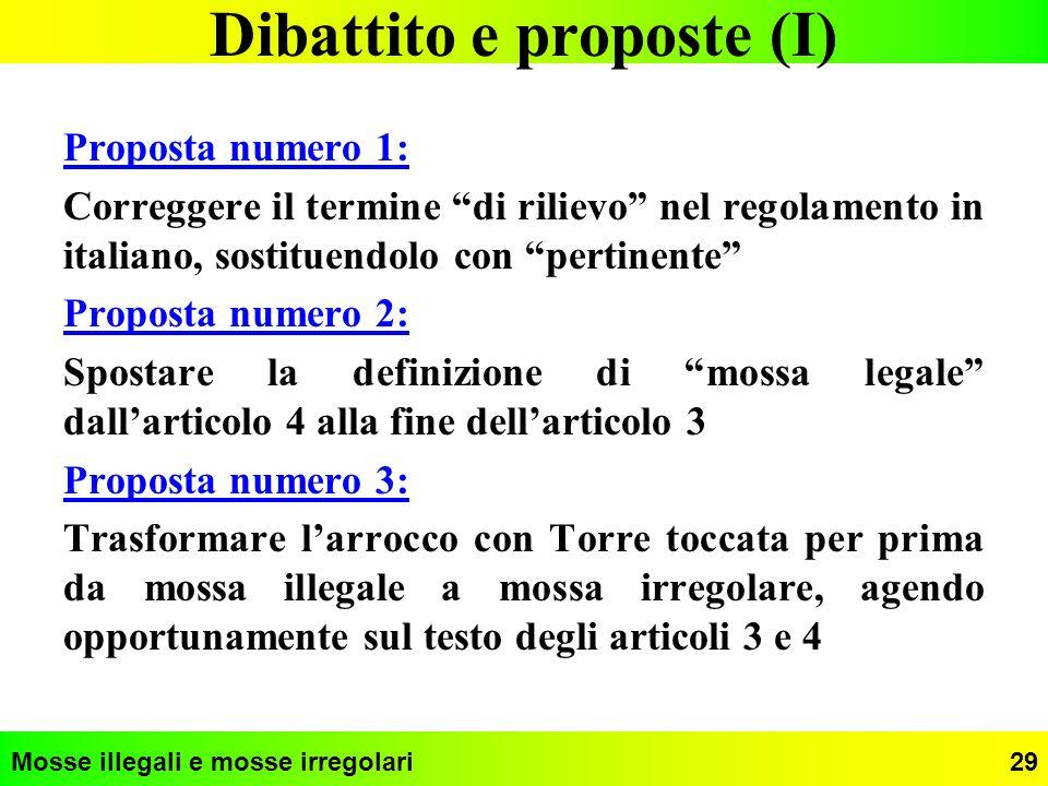 Dibattito e proposte (I)